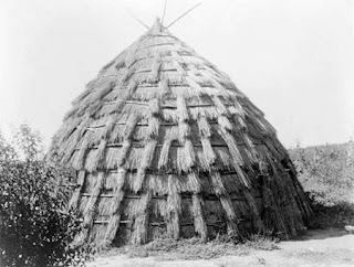 Wichita Grass-House Edward S Curtis