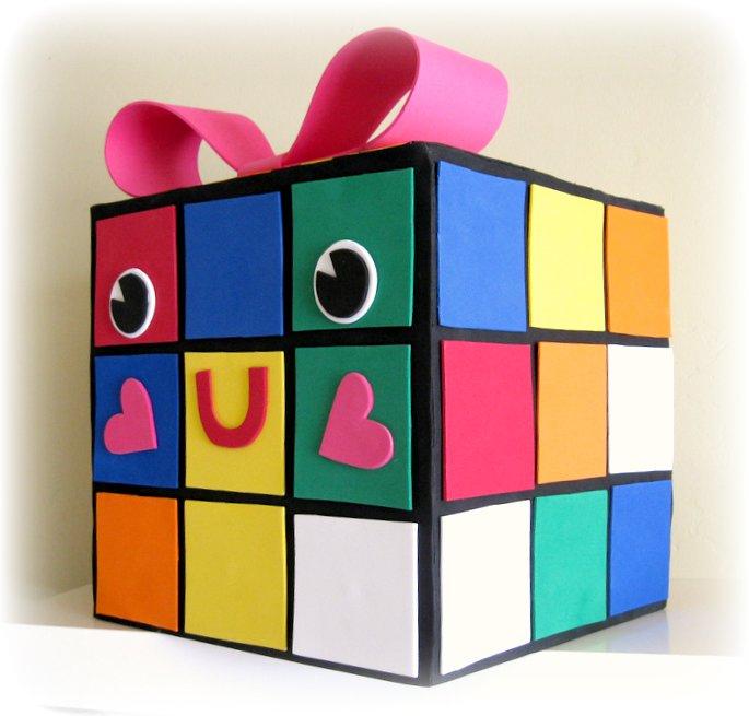rubie my rubiks cube valentine box - How To Make Valentine Boxes