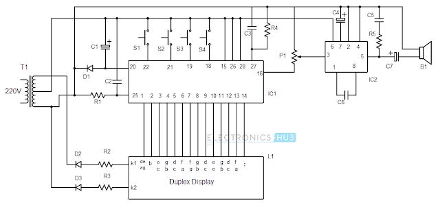 16 pin seven segment