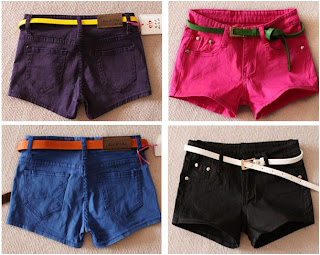 candy color pink short