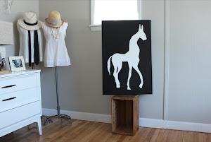 Le Deuxieme Cheval - Original Painting - $285