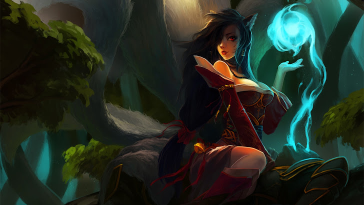 Ahri orb girl League of Legends