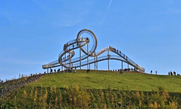 Pedestrian Roller Coaster in Germany circular staircase