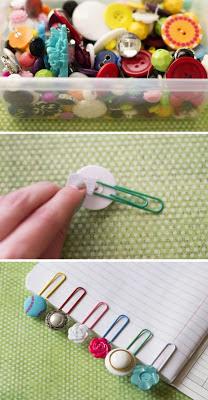 Reciclatex Originales marcapáginas de clips y botones