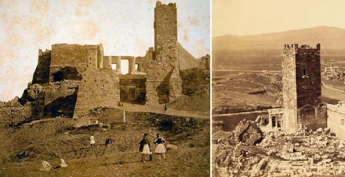 Ο χαμένος Πύργος της Ακρόπολης. Είχε ύψος 26 μέτρα και κατόπτευε όλη την Αθήνα μέχρι τη θάλασσα.