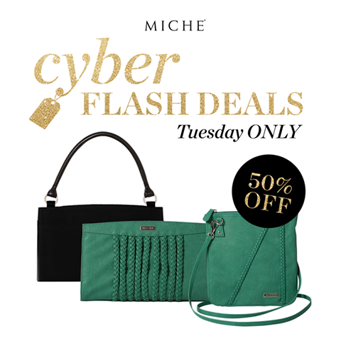 Miche Cyber Flash Sale: Teal Shell and Hip Bag