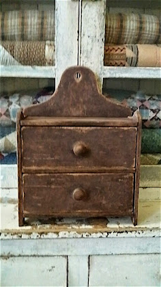 Reproduction Brown Wall Box with Drawers,  SOLD