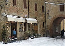 Snow in Panicale (Italy)