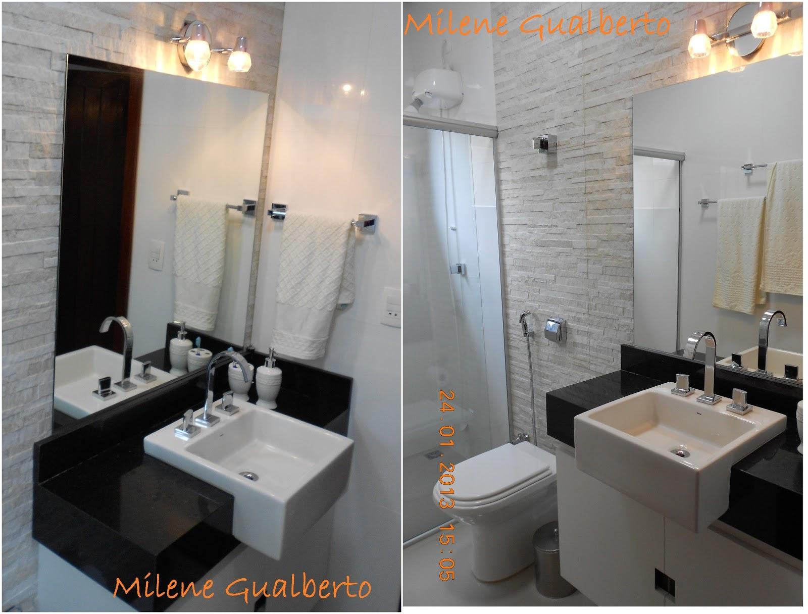 Imagens de #A15C2A Milene Gualberto: Projetos Residênciais Banheiro Porcelanato HD 1600x1216 px 3626 Banheiros Simples Rusticos