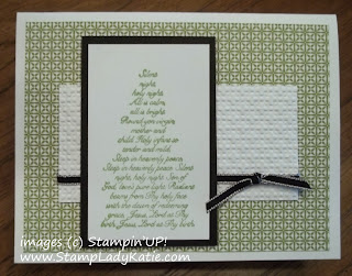 Christmas Card made with Stampin'UP!'s Evergreen stamp sett