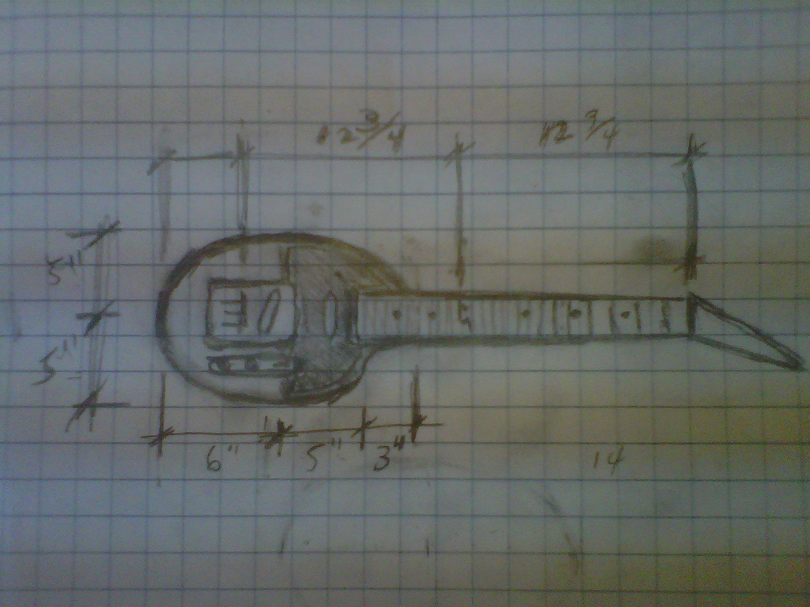 These Old Guitars April 2013 Jay Turser Pickup Wiring Diagram With The Repairs To My All But Complete I Started Sketching Out Concepts And Details That Had Been Fermenting In Mind For A Few Years