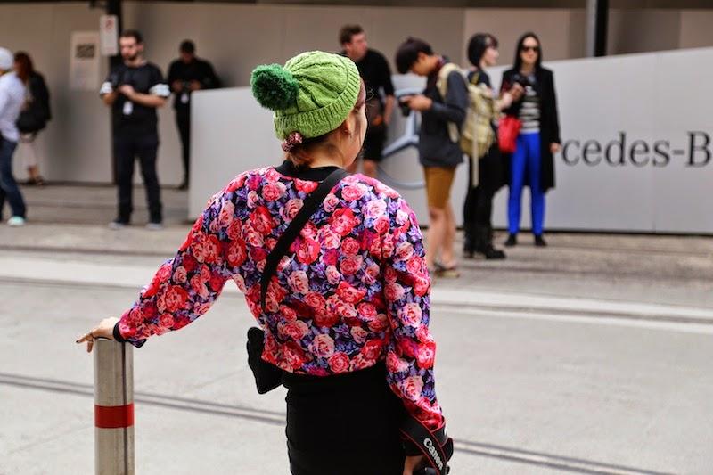 MBFWA, Street Style, Sydney, Australian Fashion Week, floral print, beanie