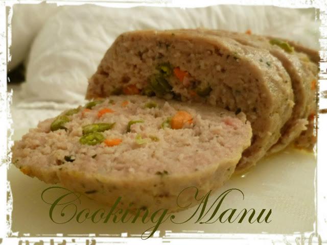 polpettone ai fagiolini e carote (meatloaf with green beans and carrots)