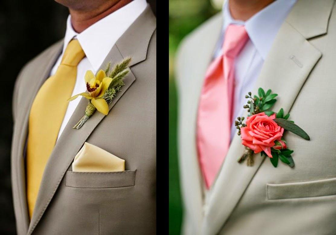 Como combinar un traje claro de novio