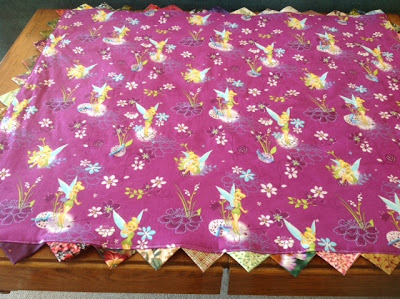 Tinker Bell quilt for granddaughter
