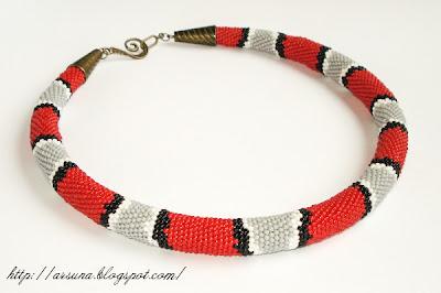 Beaded rope crochet
