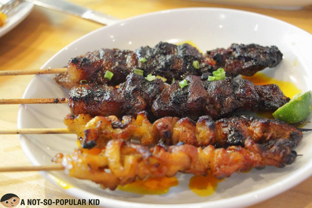 Barbecue grilled sticks of SARSA Kitchen + Bar