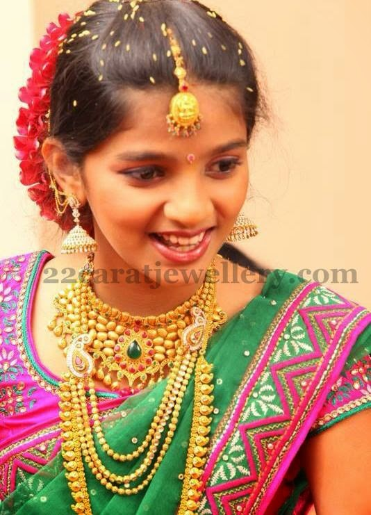 Gorgeous Girl Enchanting Gold Jewelry - Jewellery Designs - photo#3