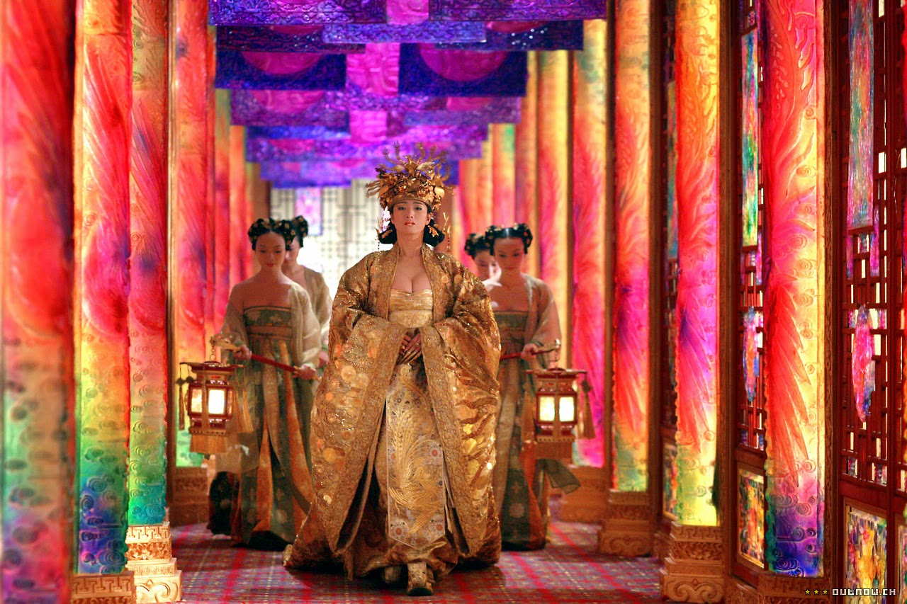 Colour review of the film the curse of the golden flower level 5 the empress and servants walking through a saturated multicoloured set 17082014 can be viewed at httpstumblrsearchcurseofthe golden mightylinksfo