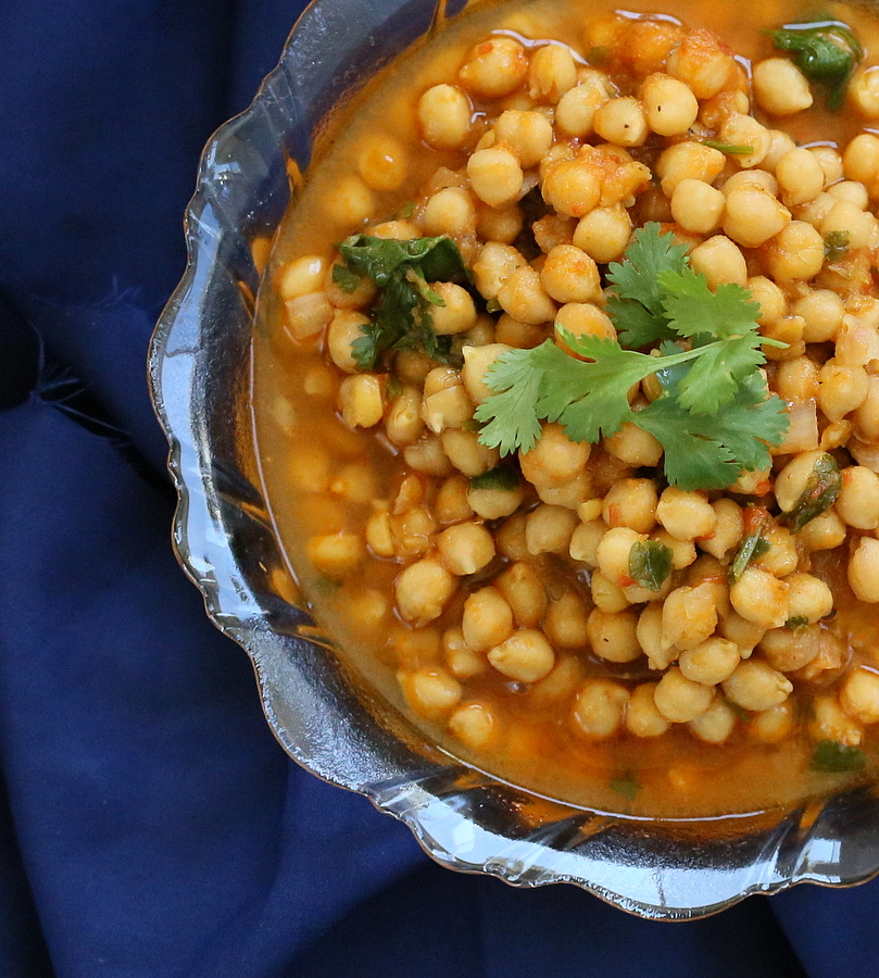 Chana Masala – Chickpea Curry with Red Bell Pepper. Vegan Glutenfree ...