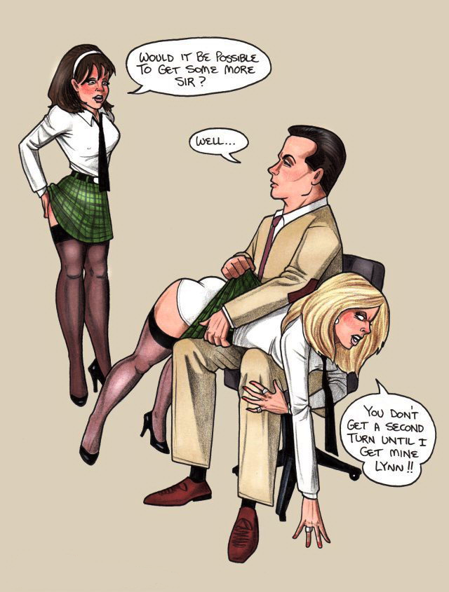image Naughty schoolboy gets caned by hot female teacher