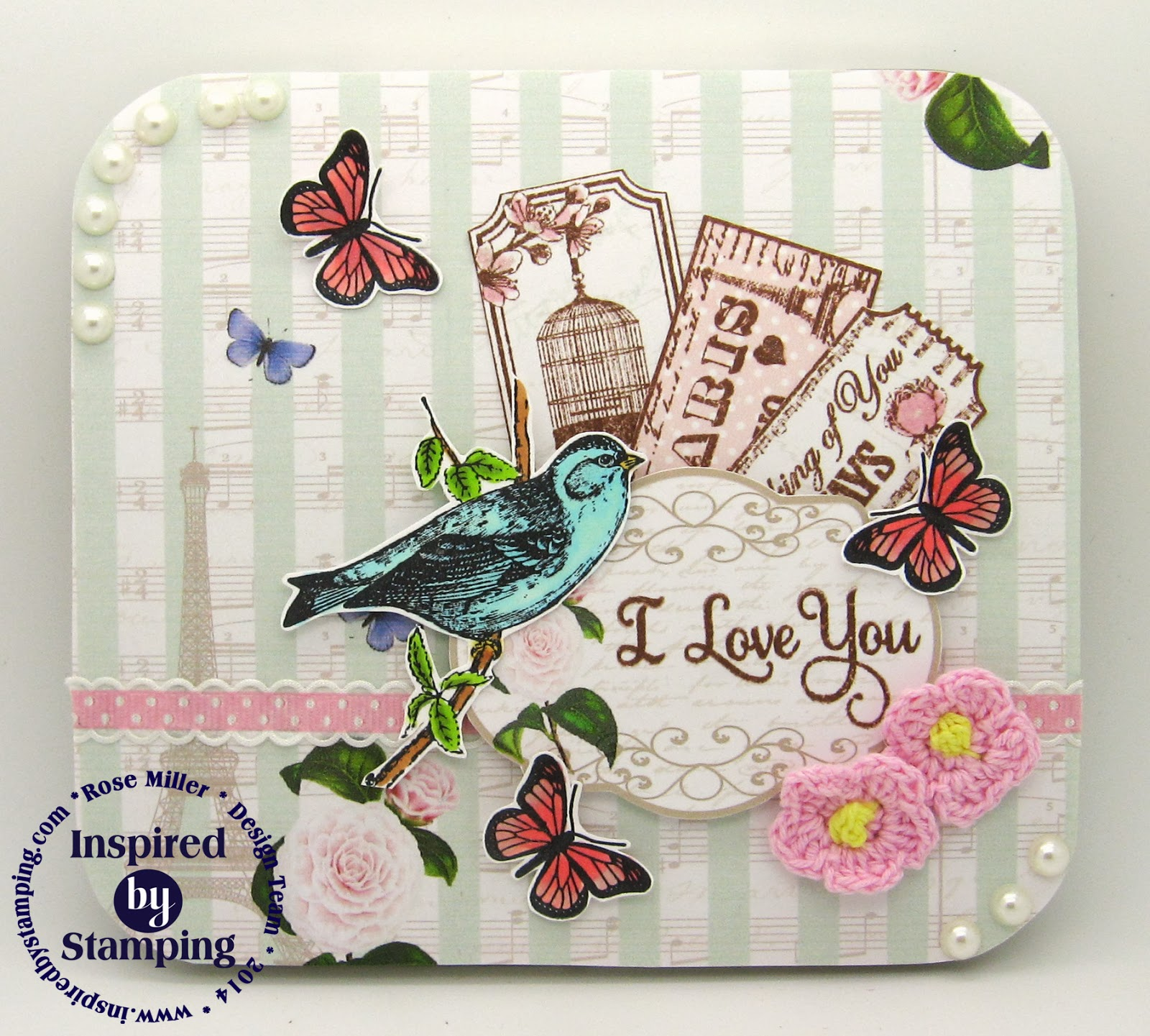 Inspired by Stamping - Rose Miller - Vintage Tickets Stamp Set - Altered Tin
