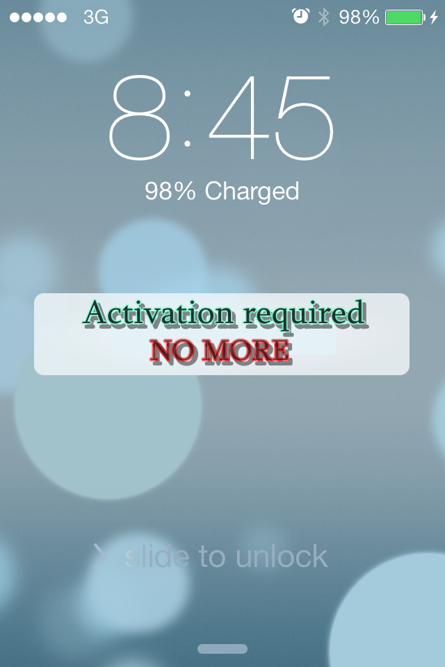 No activation required