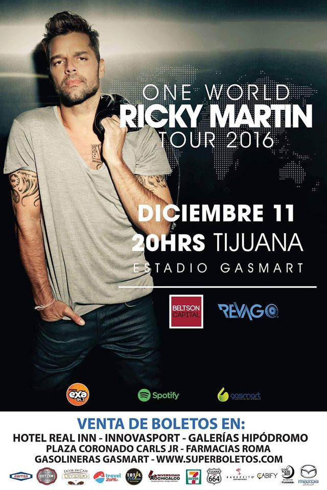 ONE WORLD RICKY MARTIN TOUR 2016