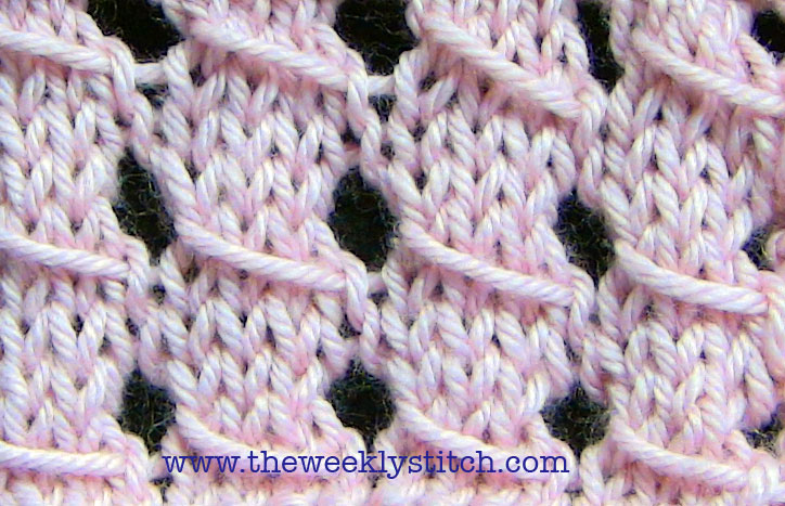 Knitting Stitch Slip 1 Wyif : Slip Stitch Lace The Weekly Stitch