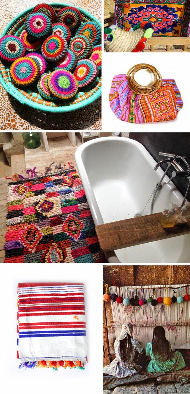 Tapis salle de bains boucherouite ©lovmint
