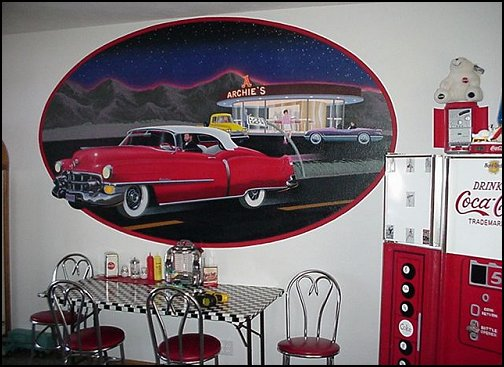 Decorating theme bedrooms maries manor 50s bedroom for Antique car decor