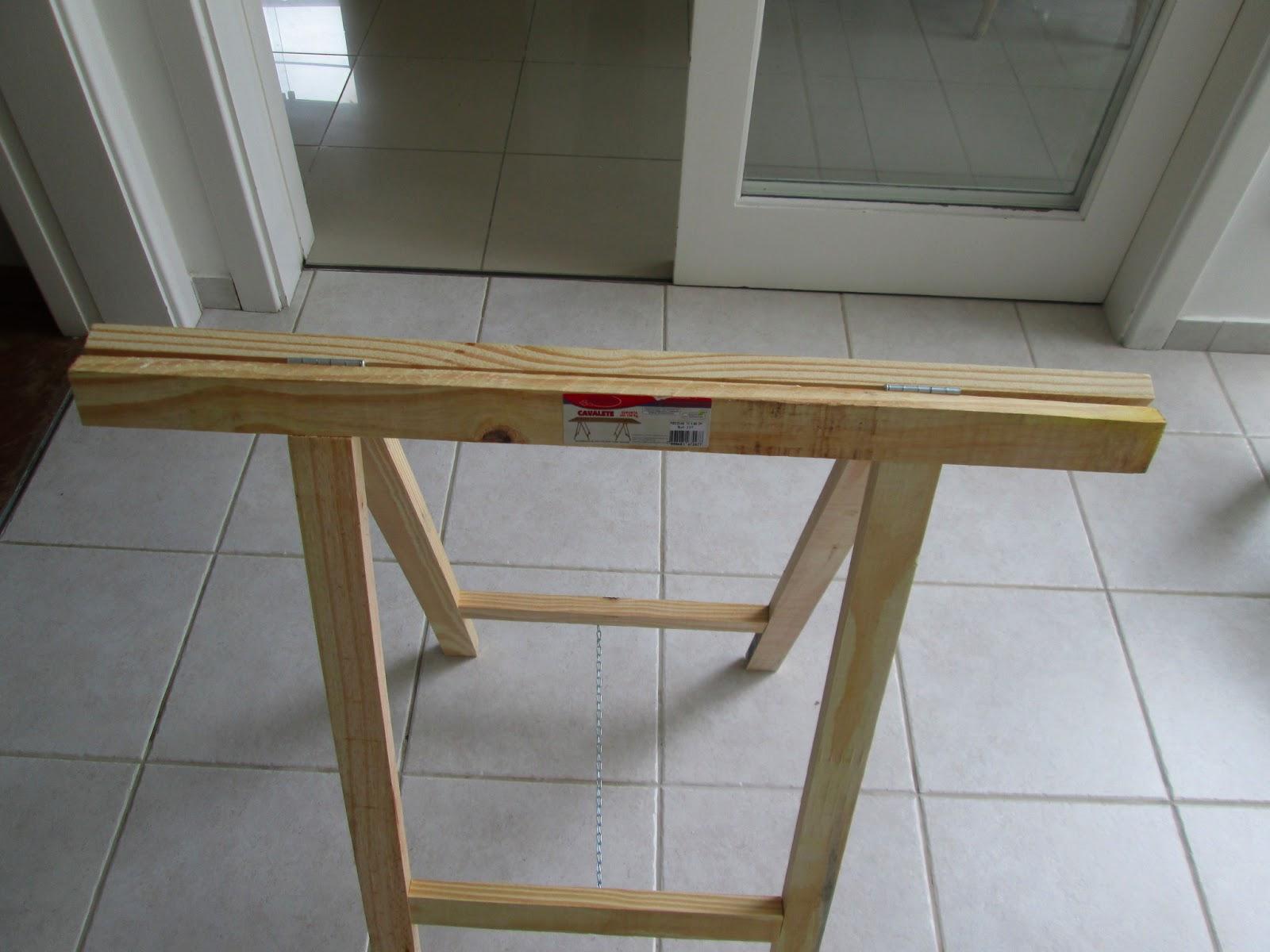 Blog de Decoração Perfeita Ordem: Meu home office com cavaletes  #5E4B32 1600x1200