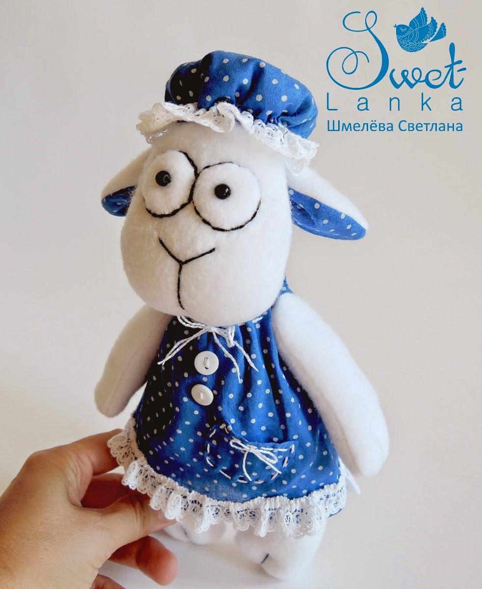 овечка игрушка сувенир к Новому году