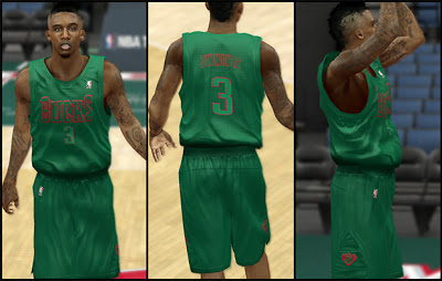 NBA 2K13 Milwaukee Bucks Christmas Jersey