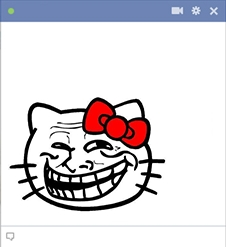 Kitty Emoticon Troll Face On Facebook Chat