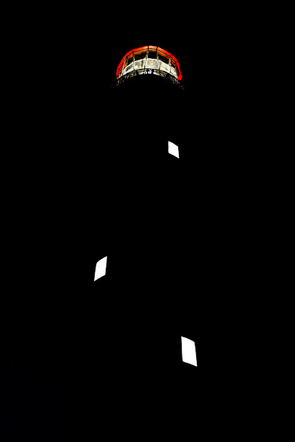 split point lighthouse at night