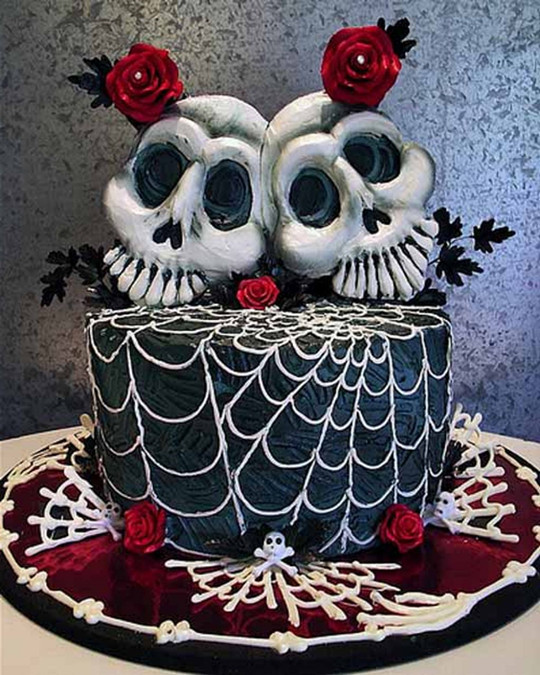 scary skull halloween wedding cakes toppers fall