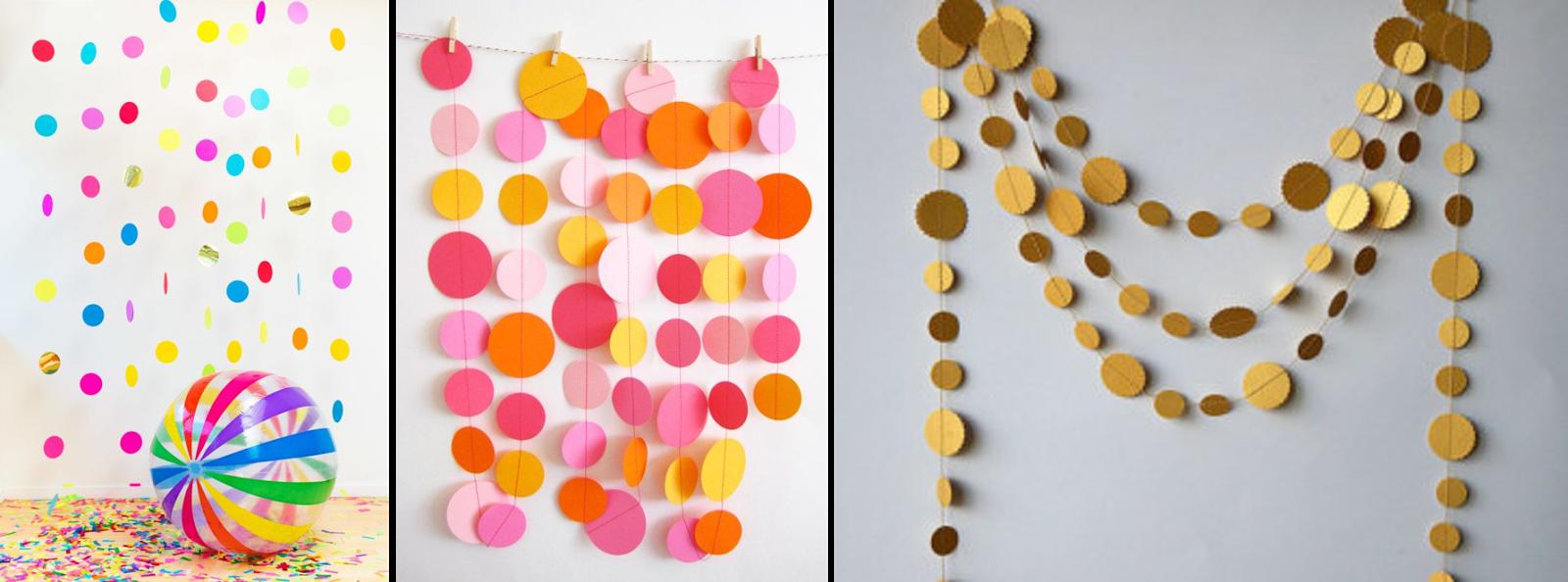 Cortinas hechas con confetti
