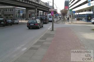 Veloroute 12, Rödingsmarkt, Ludwig-Erhard-Straße