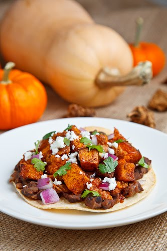 Butternut Squash and Chorizo Tostadas on Closet Cooking