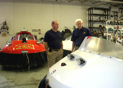Larry Bucshon tour Scullville Fire Company rescue hovercraft