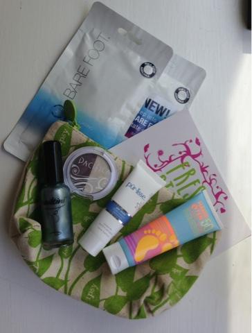 Ipsy May 2014 Glam bag products and bag