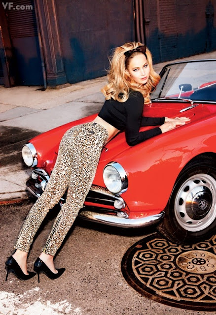 Jennifer Lawrence leopard print black photoshoot