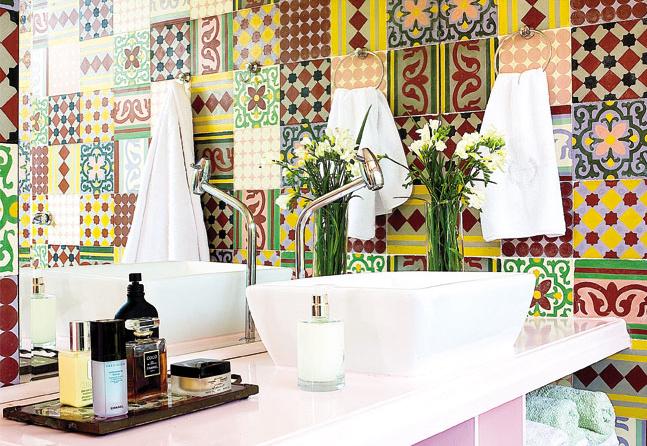 decoracao no lavabo:Ladrilhos arrasaram nas décadas de 30 e 40, foram protagonistasdas