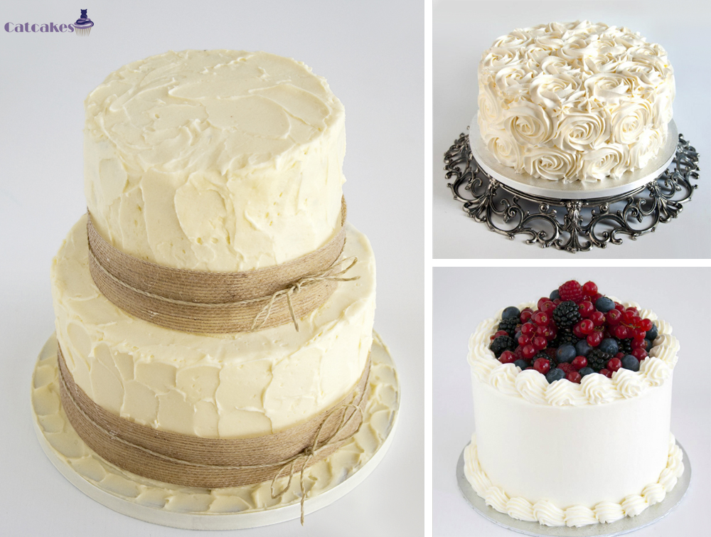 Tartas de boda sin fondant