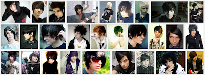 model gaya rambut emo pendek dan panjang pria dan wanita 8