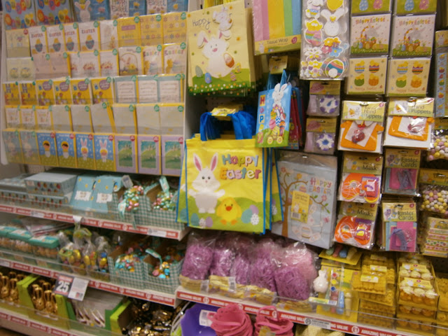 poundlands selection of easter crafts and goodies