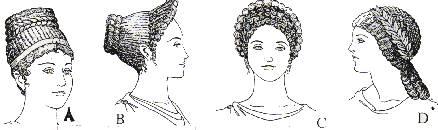 Les femmes romaines, expertes dans l\u0027utilisation des fers à friser (déjà  !), des filets, des teintures, des postiches et épingles à cheveux,