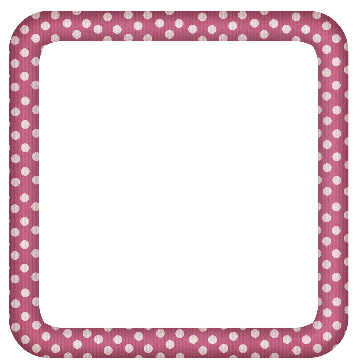 Free Faded Pink Polka Square Digi Scrapbook Frame