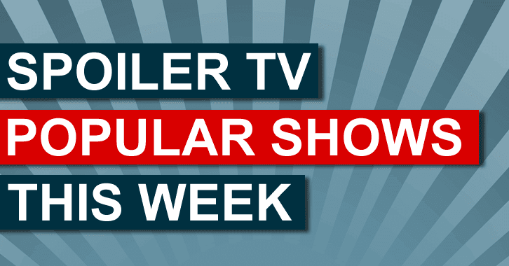 Most Popular Shows on SpoilerTV - w/e 31st October 2014